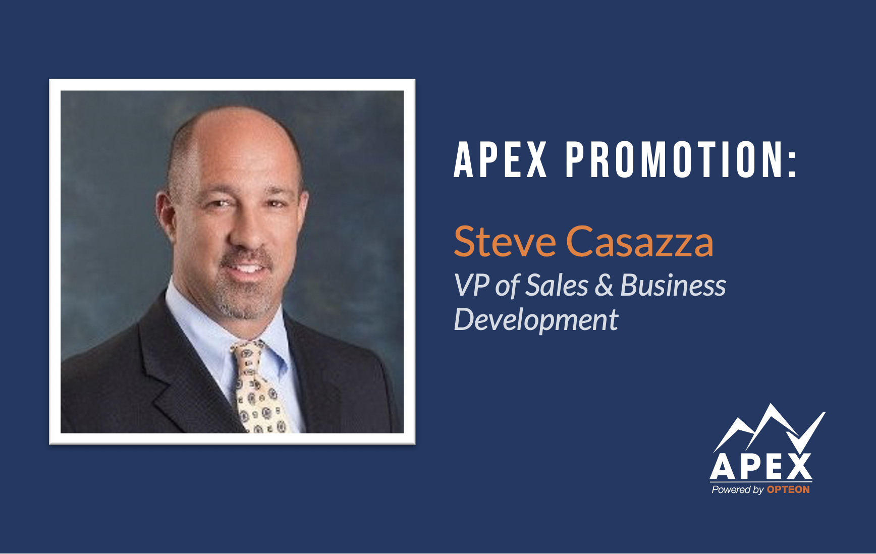 Apex Promotes New VP of Sales & Business Development